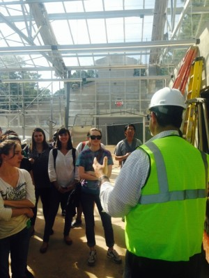 <p>Rollins WASH class touring the new WaterHub at Emory.</p>