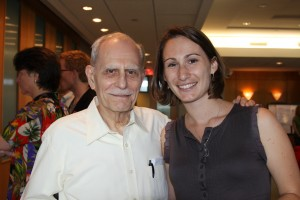 <p>CGSW Founder, Dr. Eugene Gangarosa, and former Rollins MPH student, Kate Robb, at an Emory WASH event.</p>